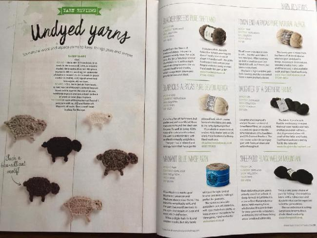 Our wool mentioned in Simply Crochet magazine - May 2018