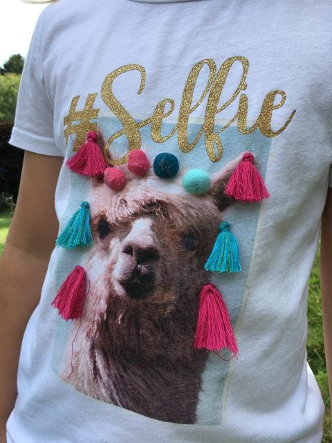 A designer T shirt - an essential for alpaca trekking!