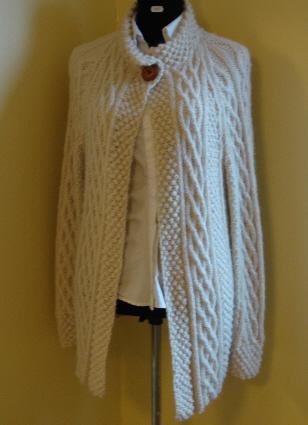 Hand Knitted Aran Jacket in the shop