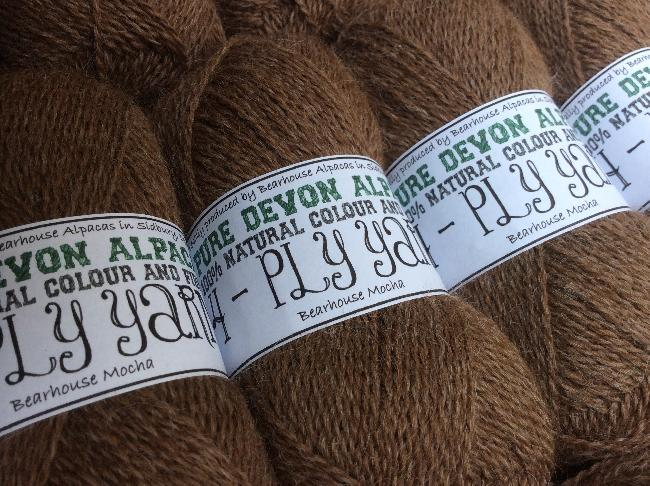 Bearhouse Mocha - new colour for 2014 in DK and 4PLY (ebay or on-line shop)