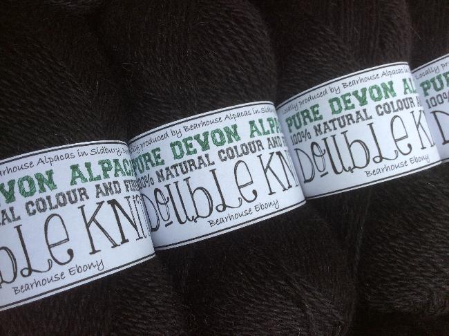 Bearhouse Ebony - new black for 2014 in DK and 4PLY (buy on ebay on our on-line shop)