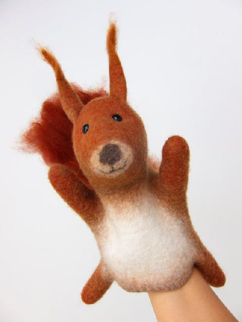 Red squirrel felted from Bearhouse Alpaca fibre by Yaroslava Troynich in Helsinki.  Her website:  bi