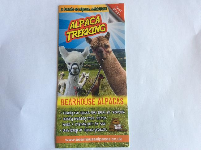 Bearhouse Alpacas Leaflet - April 2015