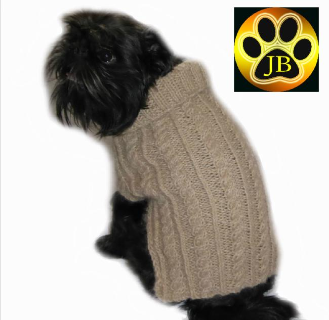 Luxury Alpaca Dog Jacket by Jack Bentley Knitwear (Etsy Shop) using Bearhouse Alpaca Wool!