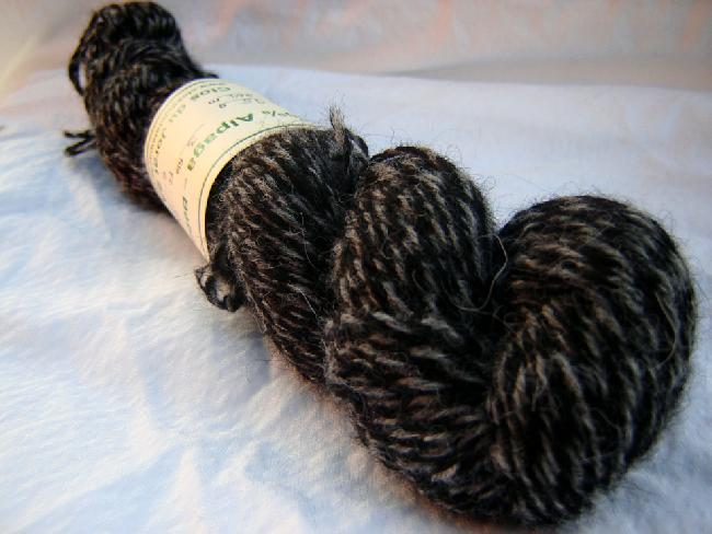 Black and Grey Twisted 3 ply A