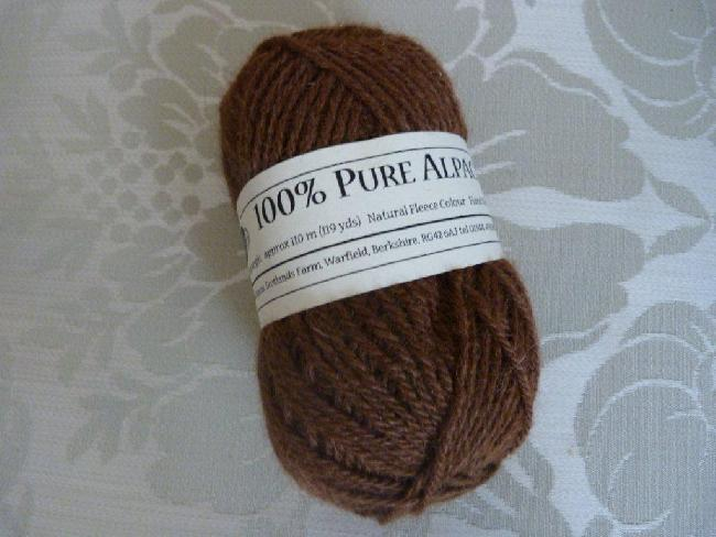 50gm balls Double Knit (approx 110m) Rich Brown £6.00 per ball plus postage as detailed below.