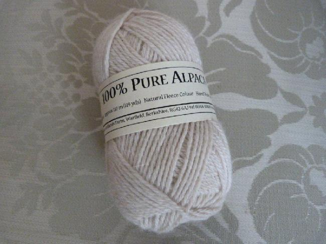 50 gm balls Double Knit (approx 110m) Natural £6.00 per ball plus postage.